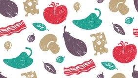 Vegetable pattern Stock Image