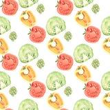 Vegetable pattern Stock Photo