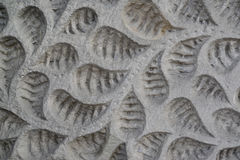 The vegetable pattern which has been cut out on a stone Royalty Free Stock Photo