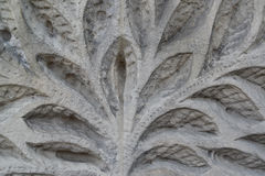The vegetable pattern which has been cut out on a stone Stock Photo