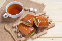 Vegetable patties and tea Royalty Free Stock Image