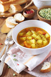 Vegetable pea soup Stock Photography