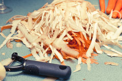 Vegetable peelings Royalty Free Stock Photo