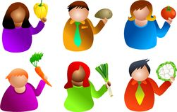 Vegetable people vector illustration