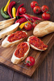 Vegetable Pepper Spread on bread, Royalty Free Stock Images