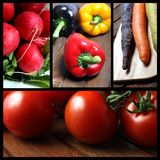 Vegetable picture mix Royalty Free Stock Image
