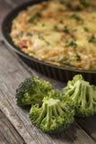 Vegetable pie in baking pan Stock Photo