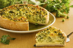 Vegetable pie with broccoli, Royalty Free Stock Photography