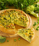 Vegetable pie with broccoli, Stock Images