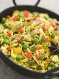 Vegetable Pilau Rice in a Balti Dish