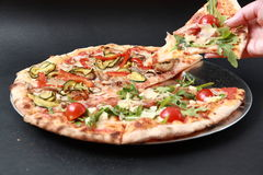 Vegetable pizza Stock Images