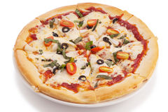 Vegetable pizza Stock Image