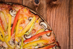 Vegetable pizza on the table Stock Photos