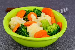 Vegetable Plate: Broccoli and Carrots. Diet Fitness Nutrition. Stock Images
