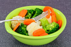 Vegetable Plate: Broccoli and Carrots. Diet Fitness Nutrition. Stock Photography
