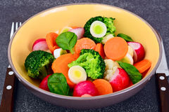 Vegetable Plate: Broccoli and Carrots. Diet Fitness Nutrition. Royalty Free Stock Image