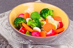 Vegetable Plate: Broccoli and Carrots. Diet Fitness Nutrition. Stock Photos