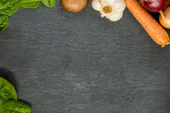 Vegetable plate. Stay healthy - eat organic Stock Photography