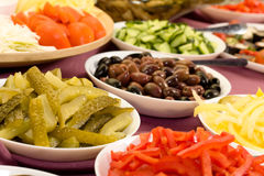 Vegetable Plates Stock Photography