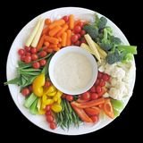Vegetable platter. Platter of vegetables in a harmonious arrangement stock image