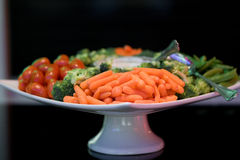 Vegetable platter. Catering tray platter of mixed vegetables appetizers Royalty Free Stock Images