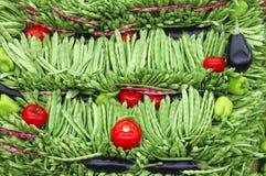 Vegetable Portrait. Vegetables in a market Stock Images
