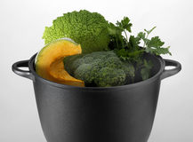 Vegetable in a pot Royalty Free Stock Image