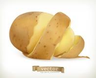 Vegetable potato peel spiral. Vector Royalty Free Stock Photos