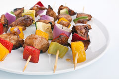 Vegetable and Poultry Grilled Kebabs Royalty Free Stock Photo