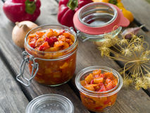 Vegetable preserve Stock Images