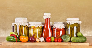 Vegetable preserves Stock Photos