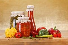 Vegetable preserves Stock Photos