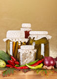 Vegetable preserves Royalty Free Stock Images