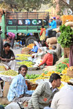 Vegetable Produce Market Scene India Stock Photo