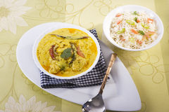 Vegetable Pulao with Kadi Stock Image