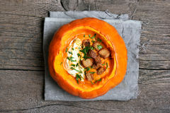 Vegetable pumpkin soup Royalty Free Stock Photo