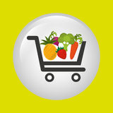 Vegetable purchasing design Royalty Free Stock Photo