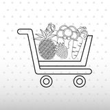 Vegetable purchasing design Royalty Free Stock Photography