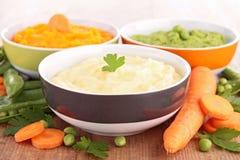 Vegetable puree Stock Photos