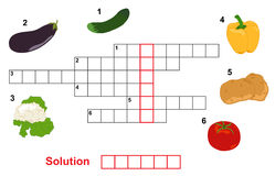 Vegetable puzzle (crossword) Stock Photo