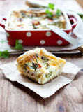 Vegetable quiche Stock Image