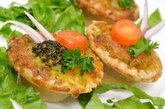 Vegetable quiche macro Stock Photo