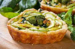 Vegetable quiche Royalty Free Stock Image