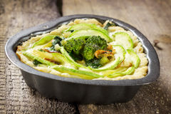 Vegetable quiche Stock Images