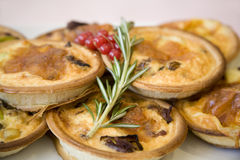 Vegetable Quiches Royalty Free Stock Photos