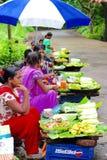 Vegetable quick bites street vendors Stock Image