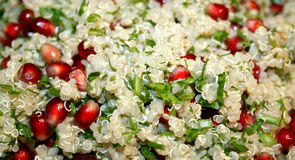Vegetable quinoa salad. With pomegranate corns Stock Images