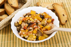 Vegetable ragout, beans with vegetables Royalty Free Stock Image