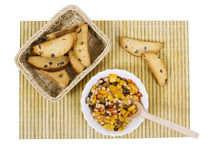 Vegetable ragout, isolated. Of tasty vegetable ragout, beans with vegetables Stock Photo