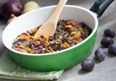 Vegetable Ragout in pan Royalty Free Stock Photo